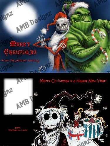 Nightmare Before Christmas Printable Custom Photo Christmas Card