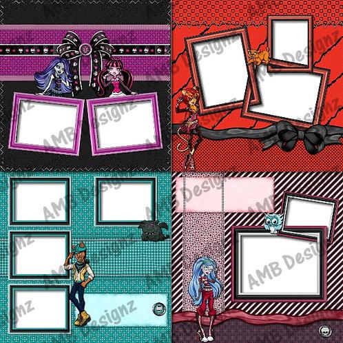 Monster High Digital Scrapbooking Premade Album/Pages Set 2
