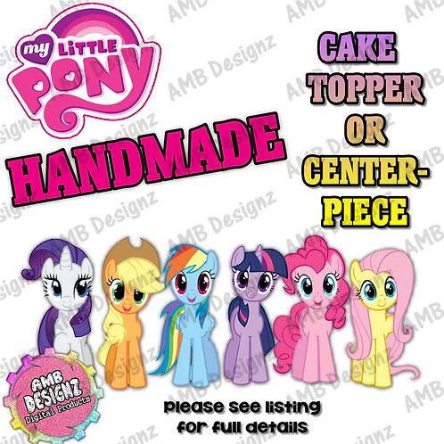 My Little Pony Cake Topper Centerpiece