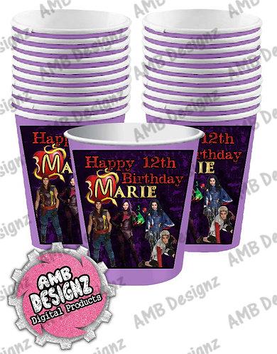 Disney Descendants Party Cups - Disney Descendants Party Supplies