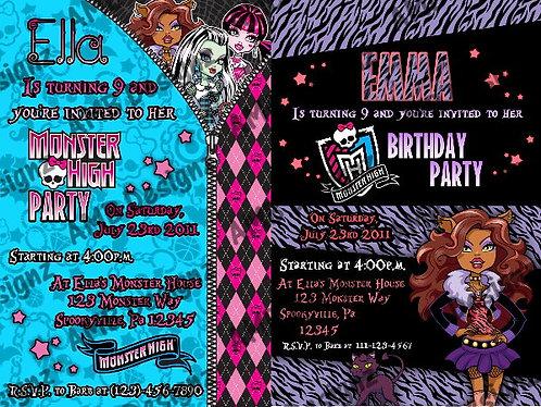 Monster High Invitations