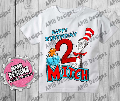 The Cat in the Hat T-Shirt Birthday Image - Dr. Seuss Party Supplies