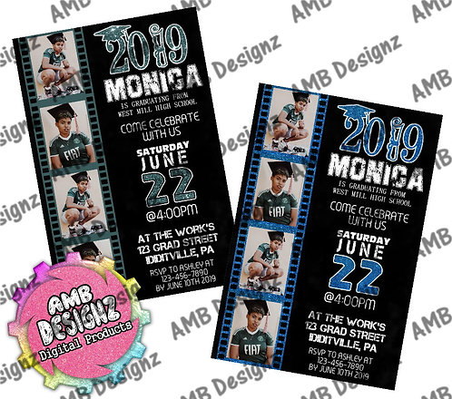 Film Strip Photo Graduation Invitations - Graduation Party Supplies