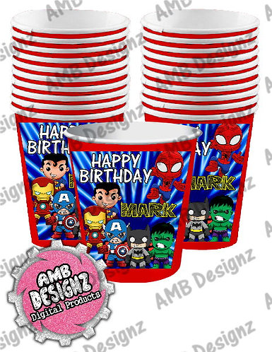 Superhero Cups Party Supplies