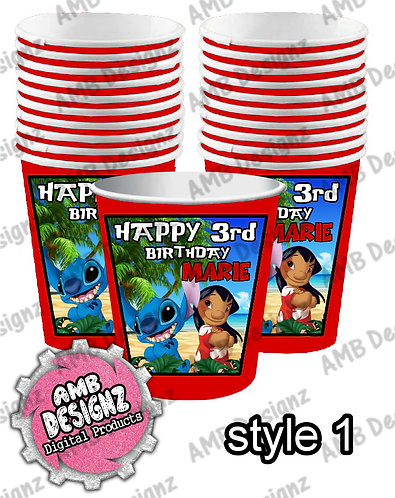 Lilo and Stitch Party Cups - Lilo and Stitch Party Supplies