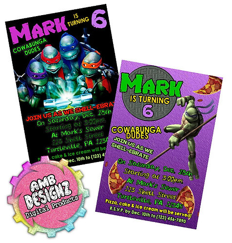 TMNT Invitations Party Supplies