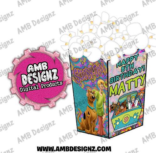Scooby Doo Popcorn Box Favor - Scooby Doo Party Supplies