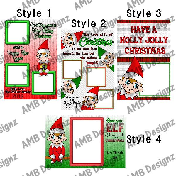 Elf on the Shelf Christmas Greeting Cards