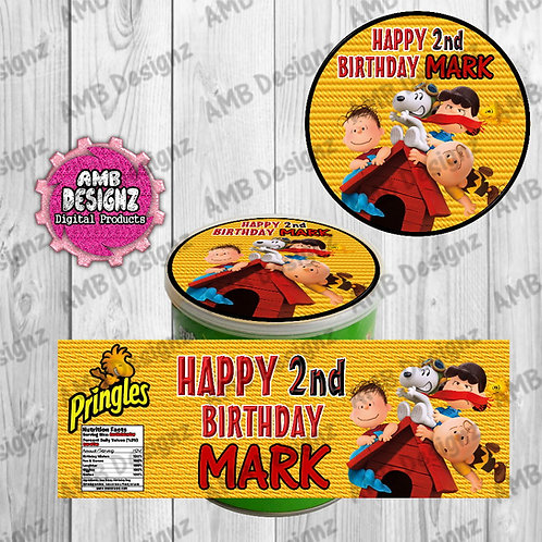 Peanuts (Charlie Brown) Pringles Can Labels - Peanuts Party Supplies