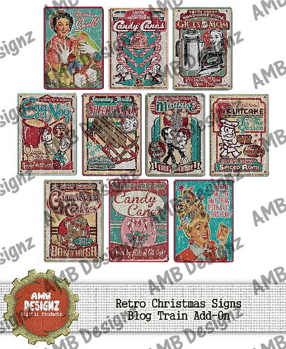 Christmas Retro Sign Pack - Retro Holly Jolly Add-On