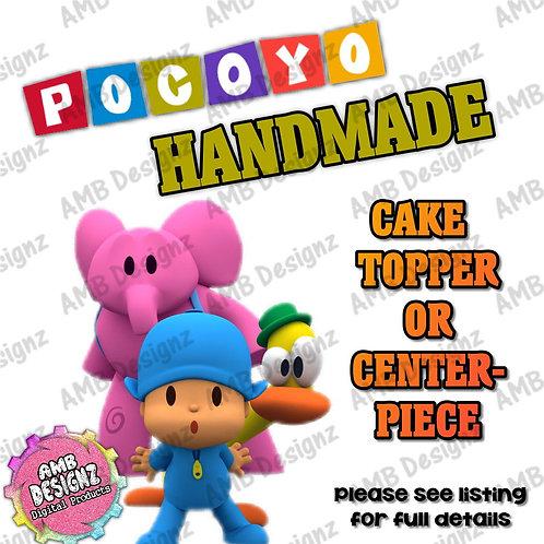 Pocoyo Cake Topper Centerpiece