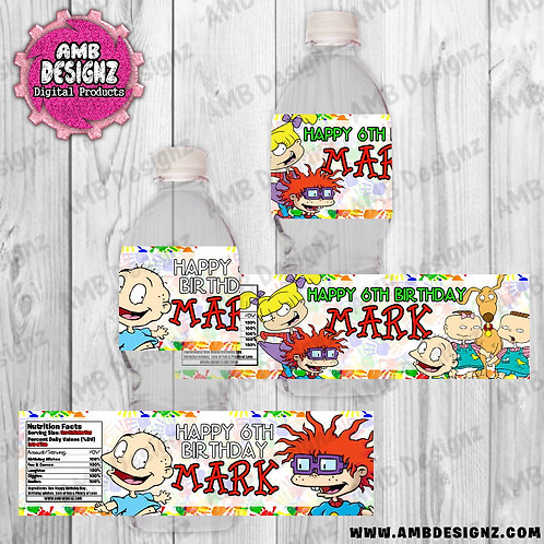 Rugrats Water Bottle Wrap - Rugrats Party Supplies
