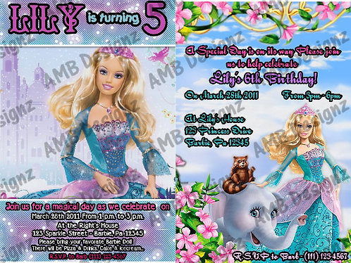 Barbie Custom Digital Invitation