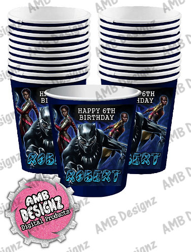 Black Panther Party Cups - Black Panther Party Supplies