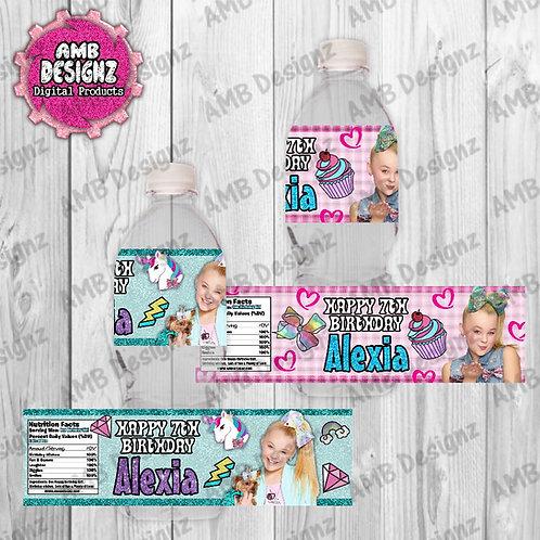 Jojo Siwa Water Bottle Wrap Party Supplies