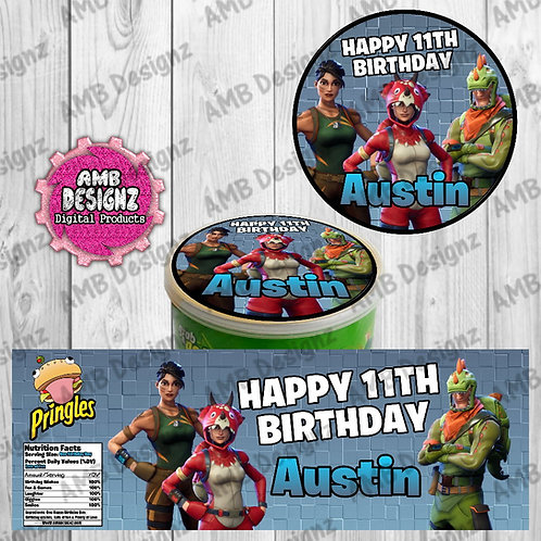 Fortnite Pringles Can Labels - Fortnite Party Supplies
