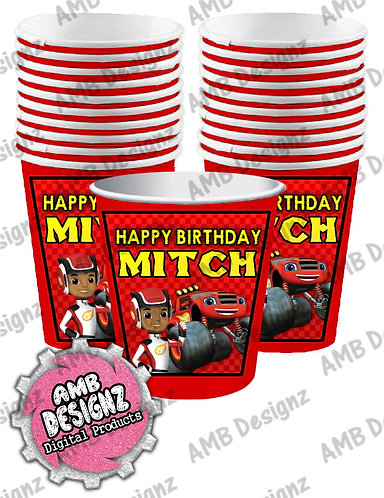 Blaze and the monster machines Party Cups - Blaze Party Supplies