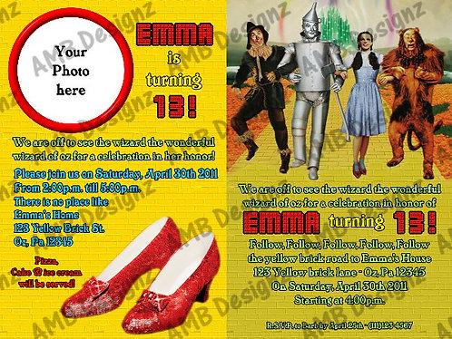 The Wizard of Oz Custom Digital Invitation