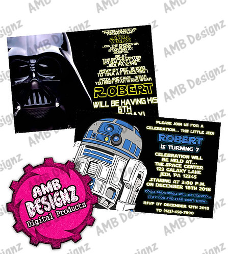Star Wars Invitations - Star Wars Party Supplies