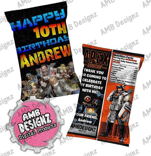 Apex Legends Chip Bag Party Favor - Apex Legends Party Supplies