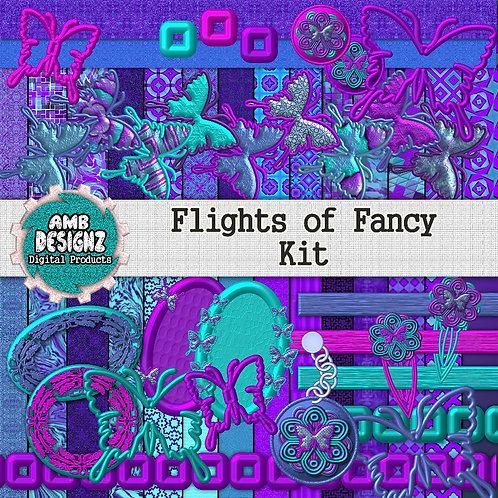 Flights Of Fancy Digital Scrapbooking Kit