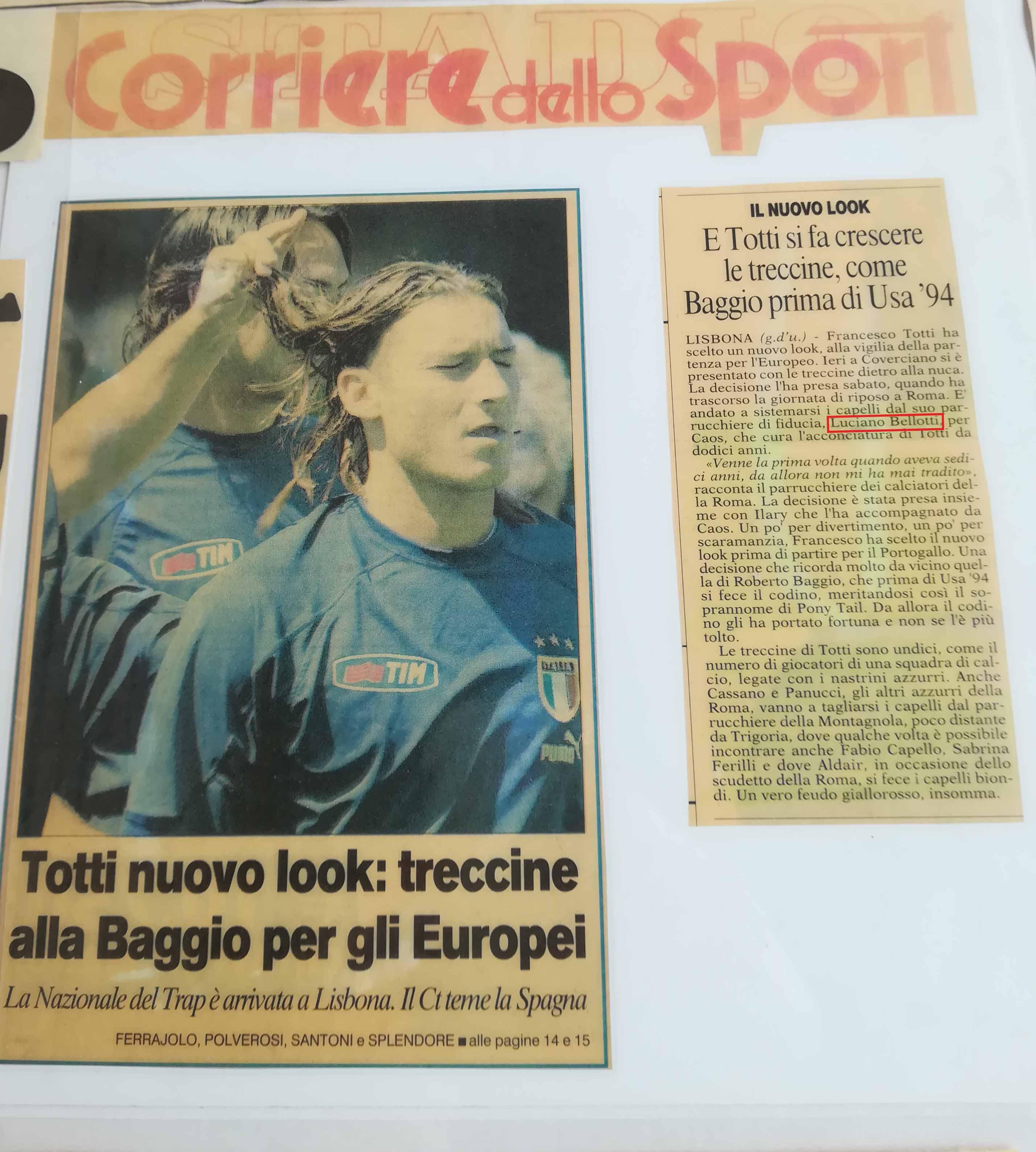 Luciano Bellotti il Parrucchiere di Francesco Totti