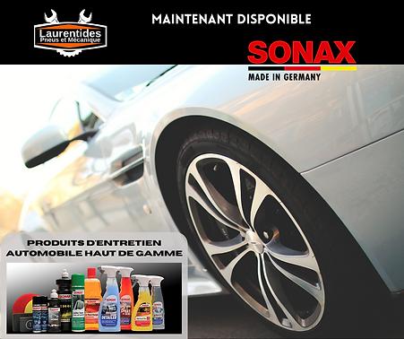 produits d'entretien Sonax en vente chez Laurentides Pneus et Mécanique