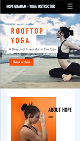 Sport & Recreation website templates – Yoga Classes