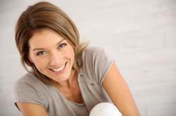 Adult female smiling
