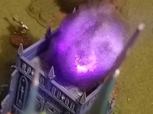 Small purple blast marker