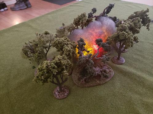 Napalm explosion without fiber optics