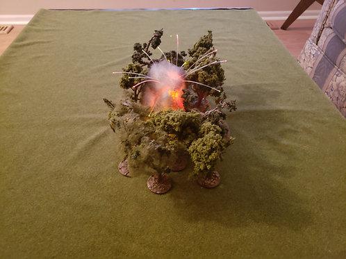Napalm explosion with fiber optics