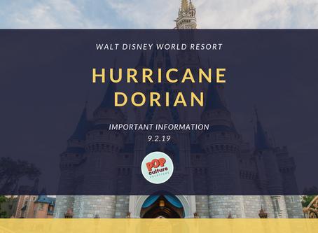 Important Information on Hurricane Dorian for Walt Disney World Resort
