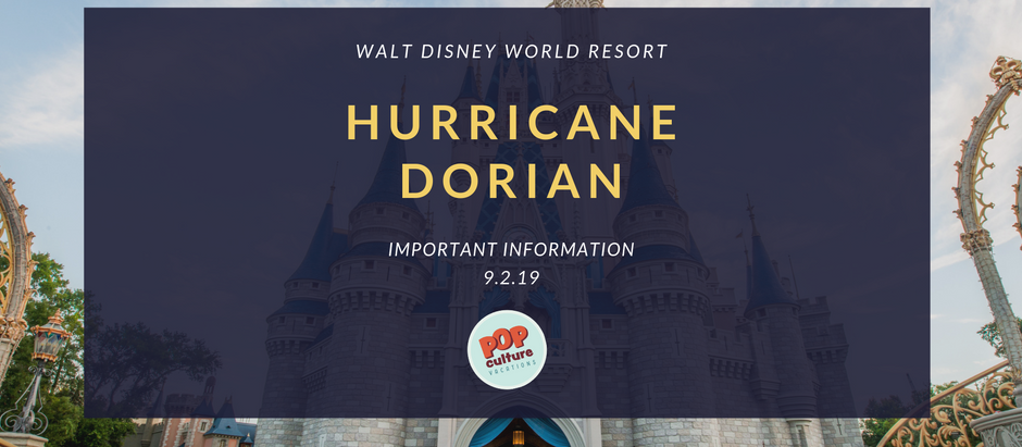 Important Information on Hurricane Dorian for Walt Disney World Resort