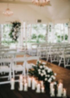 ceremony setup - beach wedding