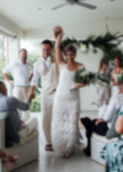 bride and groom ceremony hands