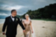 bride groom walk beach