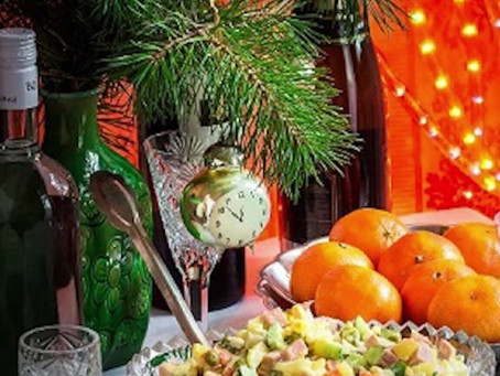 """Traditional Russian """"New Year table"""""""