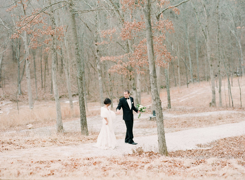 St. Louis bridal gown winter wedding