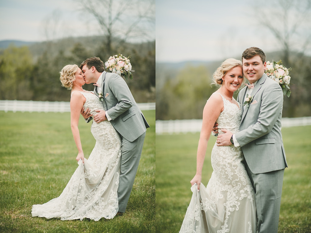 st. louis bride and groom vineyard wedding