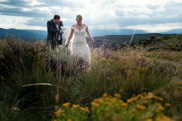 Allure Bridal Gown Mountain Wedding