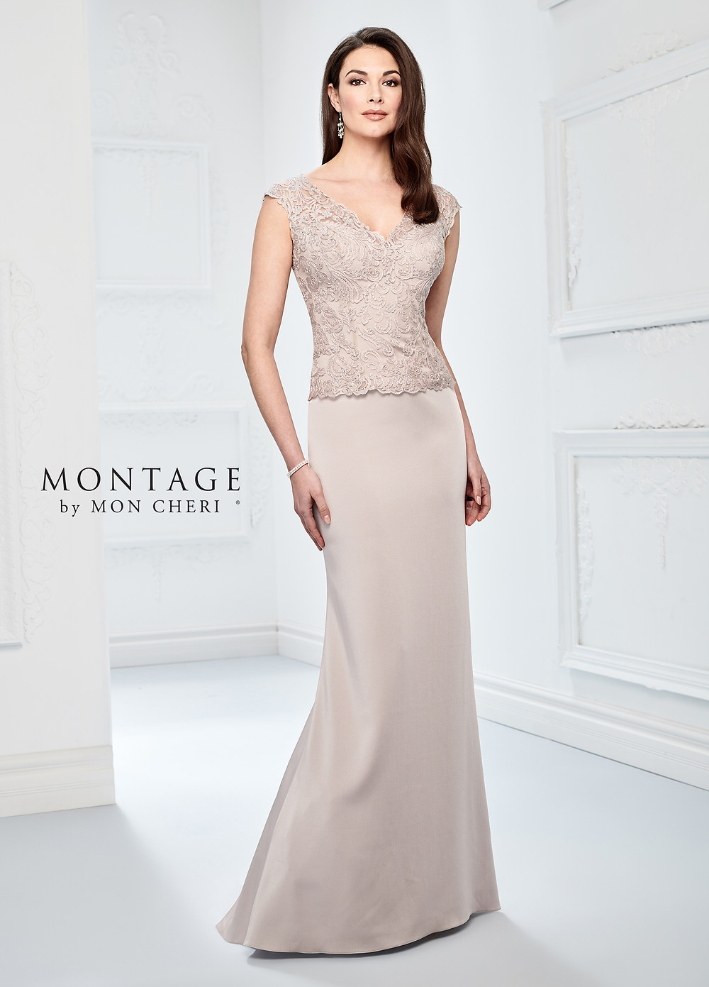 lace and chiffon mother of the bride dress champagne nude