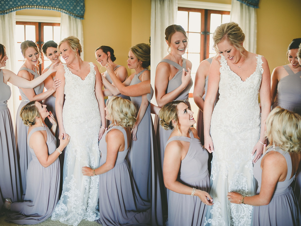 st. louis bride and bridal party