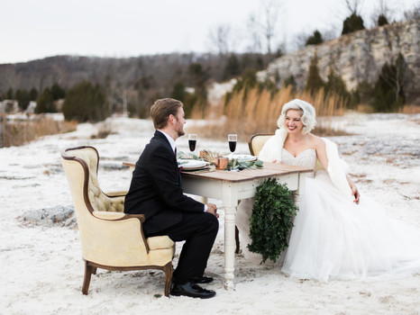 Winter Wedding Styled Photo Shoot in St. Louis