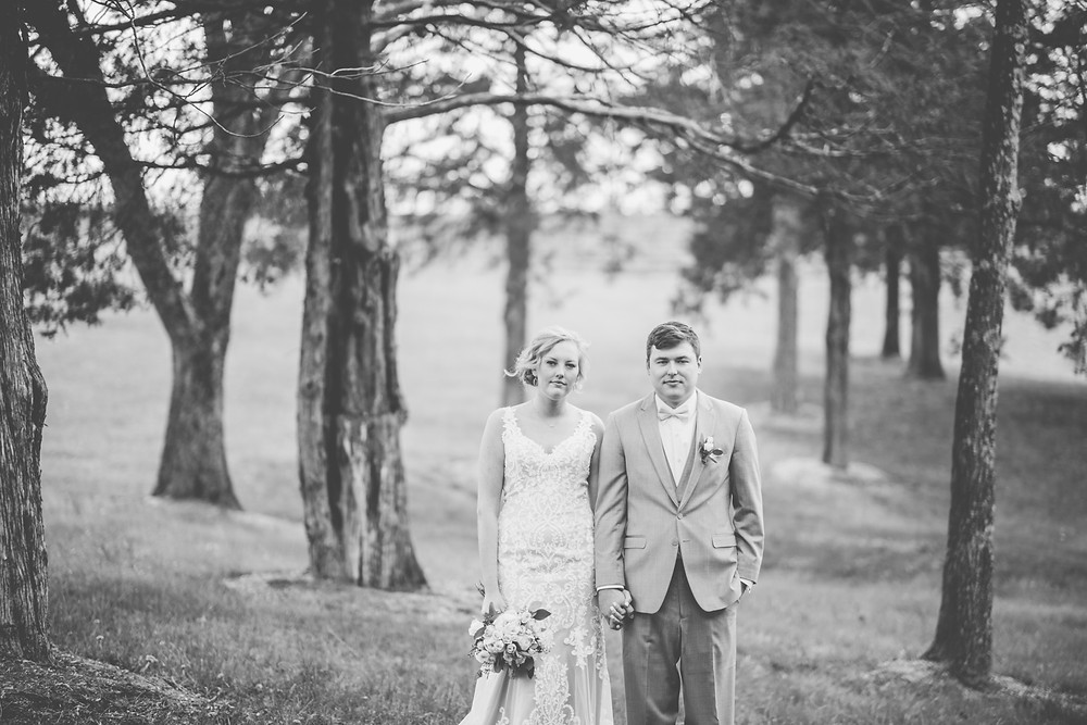 st. louis brdie and groom vineyard wedding