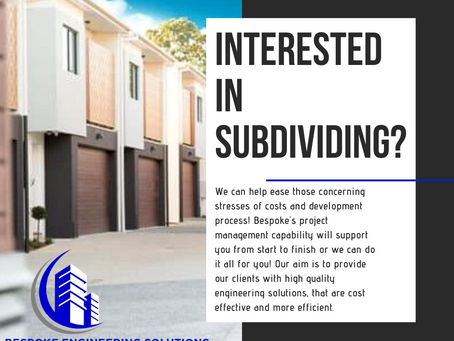 INTERESTED IN SUBDIVIDING?
