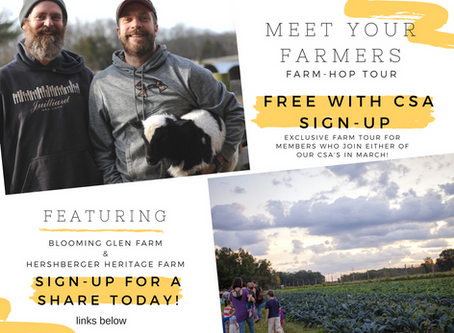 March Promo: Meet Your Farmers Farm-Hop Tour!