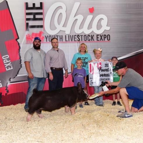4th Overall Berk Barrow Ohio Youth Livestock Expo Ali Genter  Sired by Gorilla Monsoon