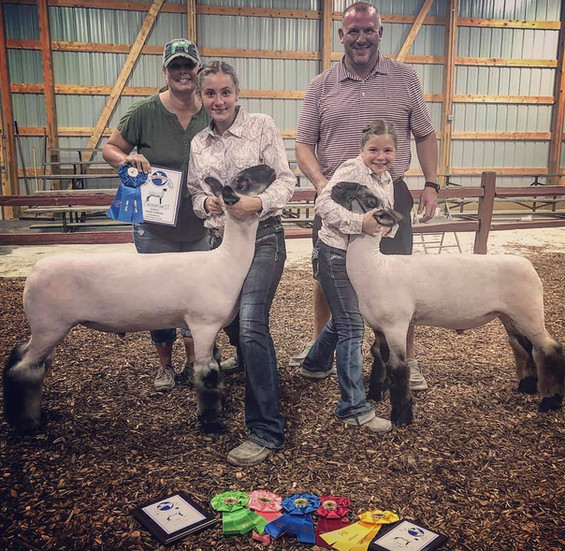 Champion Division Market Lamb  Fourth Overall Market Lamb Hartford Fair   Sired By: Emcee Shown By: Ella Altizer    Reserve Grand Champion Division  Sixth Overall Market Lamb The Great Hartford Fair Sired By: Temper Tantrum Shown By: Aubrey Altizer