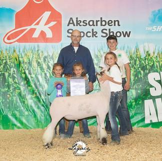 7th Overall Market Lamb Grand Champion